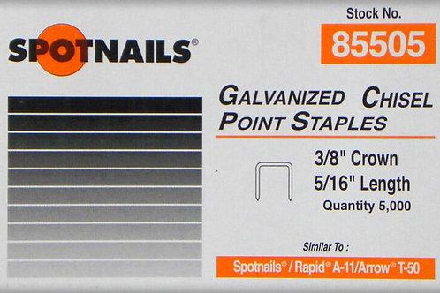Spotnails Galv 8mm Staples pk of 5000