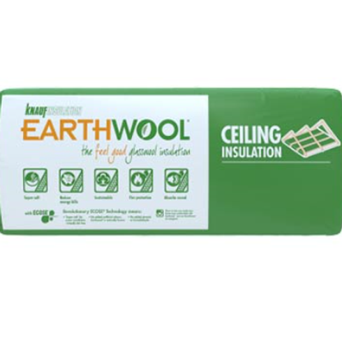 R2.5 Ceiling Knauf EARTHWOOL GLASSWOOL BATTS 430S
