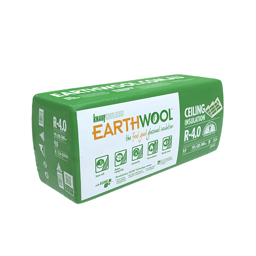 R4.0 Ceiling Knauf EARTHWOOL GLASSWOOL BATTS 430S