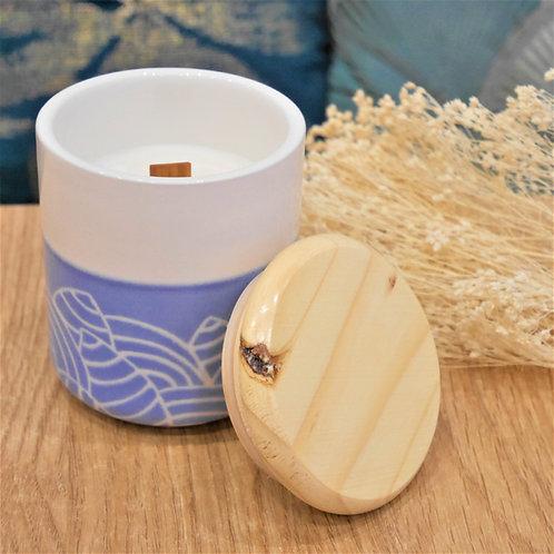 Peinture sur céramique et création d'une bougie parfumée