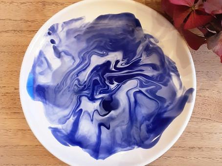 Tuto de peinture sur céramique  : l'effet marbré