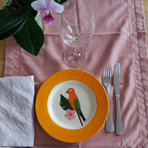 Petite assiette perroquet