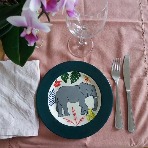 Petite assiette éléphant