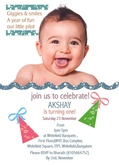 1st Birthday Invitation Wordings WHOOS TURNING ONE