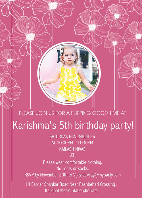 Kids 8th Birthday Party Invitation Wordings Prepare