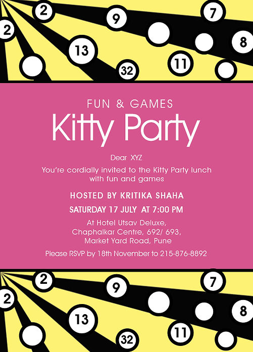 Free Kitty Party Invitation Wordings Online