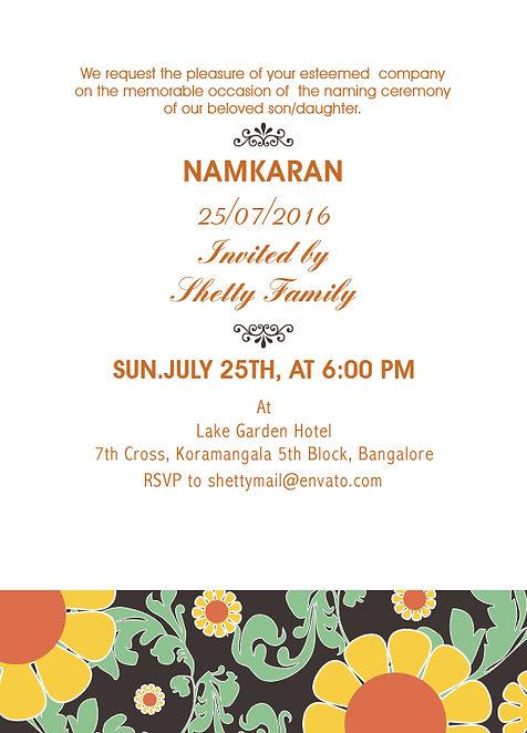 Free Namakaran Invitation Wordings Online