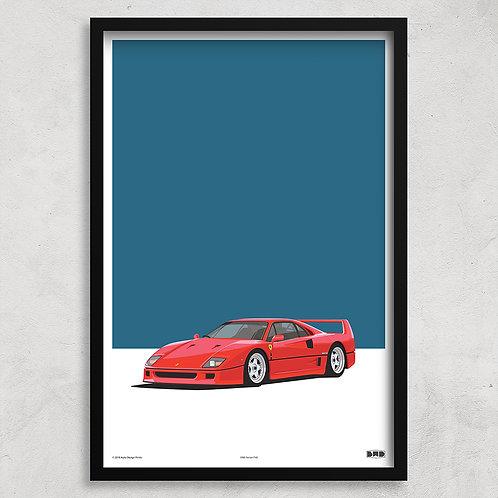 1990 Ferrari F40 - Maxi Print