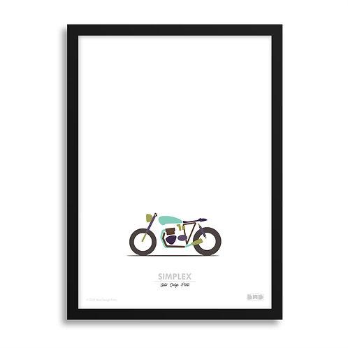 SIMPLEX Triumph - Café Racer Print