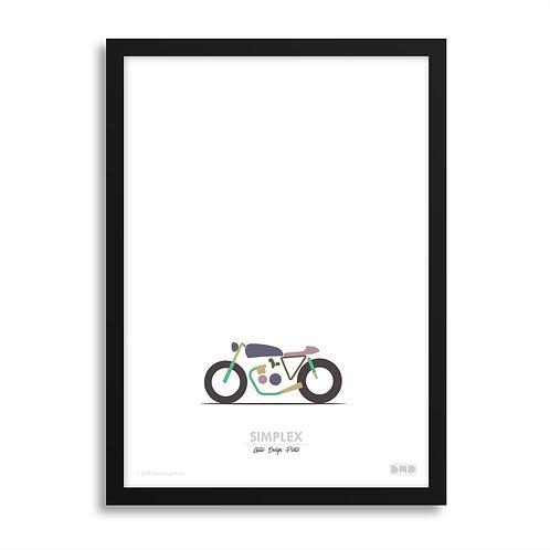 SIMPLEX Kawasaki - Café Racer Print