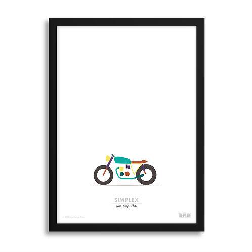 SIMPLEX Honda - Café Racer Print