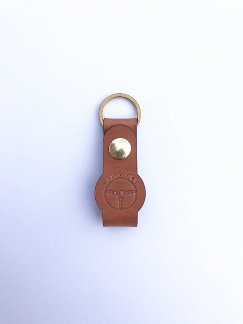 Auto Design Prints x Oak & Tan - Leather Keyring