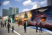 工事現場の仮囲い-デザイン