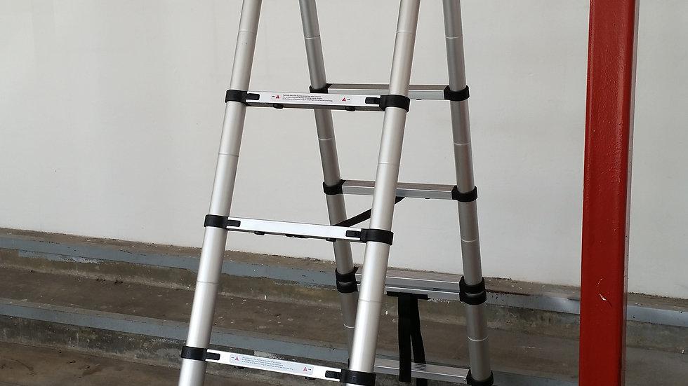 Tele-ProSteps Telescopic Ladder 2.6m+2m 7 steps