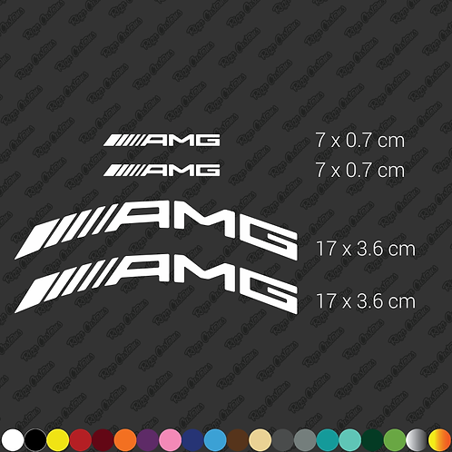 x4 AMG Brembo caliper restoration stickers set