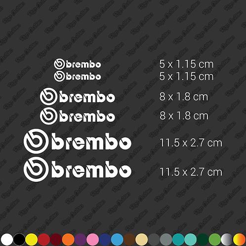 x6 Brembo caliper restoration stickers set