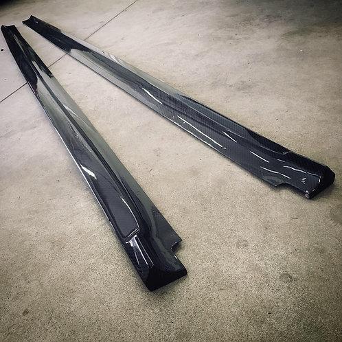 BMW X5 F15 F85 X6 F16 F86 RC Design side skirt from Real Carbon fiber