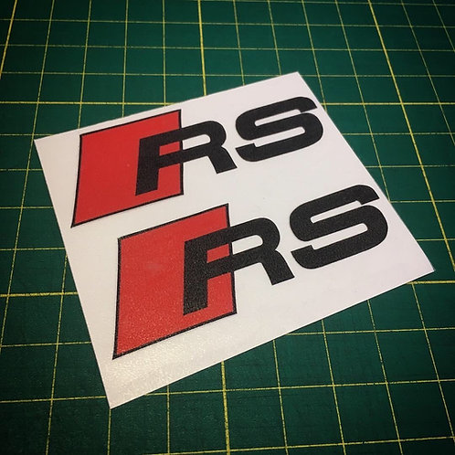x2 RS calliper die cut vinyl stickers set