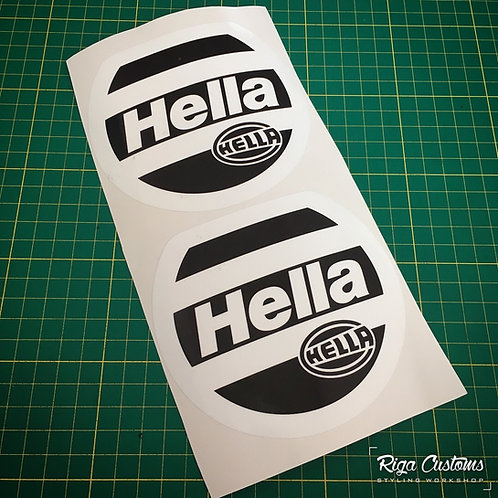 x2 Hella headlight cover stickers set for BMW E36
