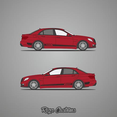 x2 Mercedes AMG E63 W212 side stickers set