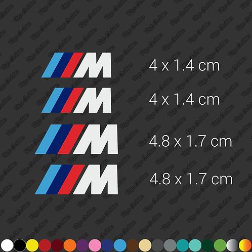 x4 BMW Brembo caliper restoration stickers set