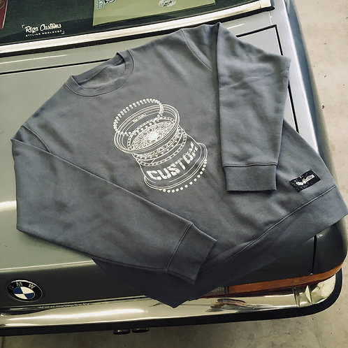 Custom rims BBS sweatshirt - Dark Grey
