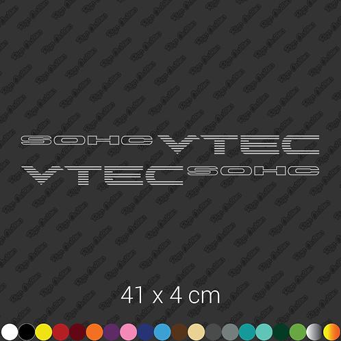 x2 SOHC VTEC restoration stickers set
