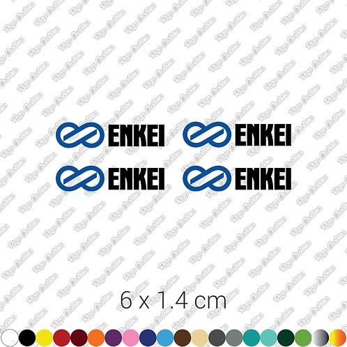 x4 Enkei rims restoration stickers set