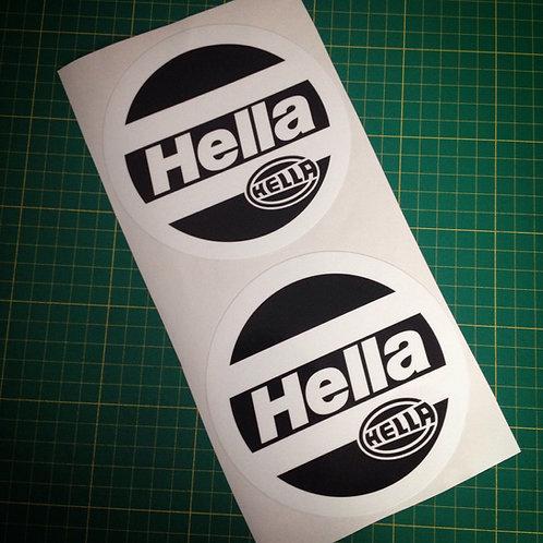 x2 Hella headlight cover stickers set for BMW E34