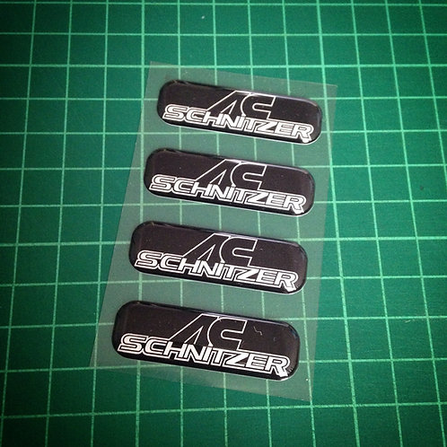 4x BMW AC Schnitzer 3D stickers set for E60