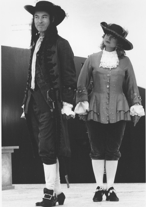 As Pinchwife with Nicola Duffett as Marjorie in THE COUNTRY WIFE