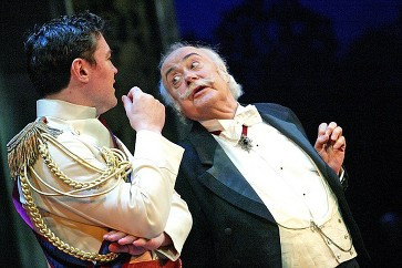 Karl Damond with Victor in THE MERRY WIDOW