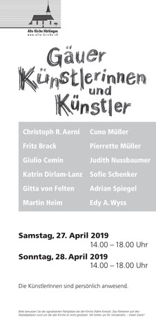 Gäuer Künstler alte Kirche Härkingen 27.&28.April.2019