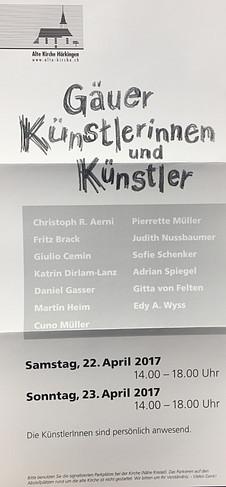 Gäuer Künstlerinnen und Künstler Ausstellung 22. + 23. April 2017