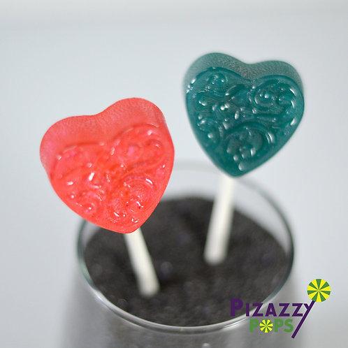 Fancy Heart Lollipop - Small