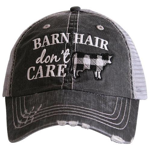 Barn Hair Don't Care (Cow) Trucker Hat