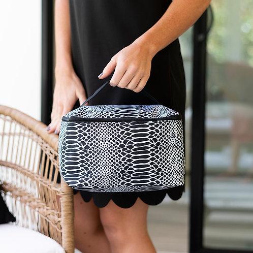 Snakeskin Cosmetic Bag