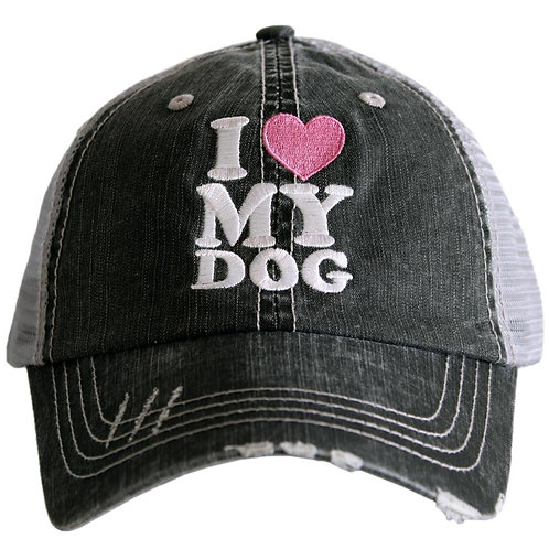 I Love My Dog Trucker Hat