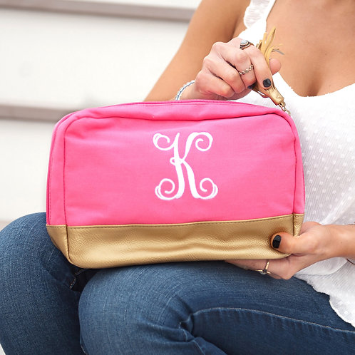 Hot Pink Cosmetic Bag