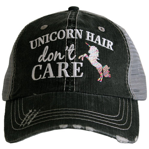 Unicorn Hair Don't Care Trucker Hat