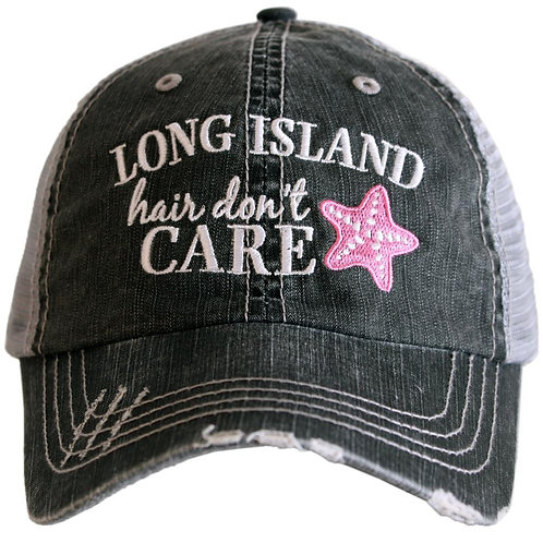 Long Island Hair Don't Care Trucker Hat