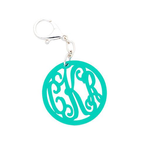 Mint Vine Monogram Acrylic Keychain