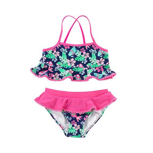 Size LARGE - Tropi-Cool Girl's Swim Set