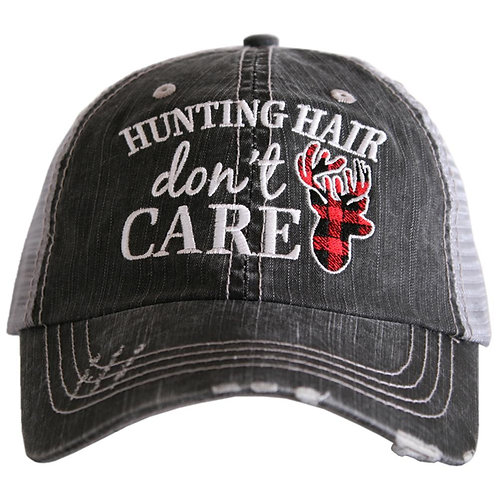 Hunting Hair Don't Care (Anchor Style) Trucker Hat