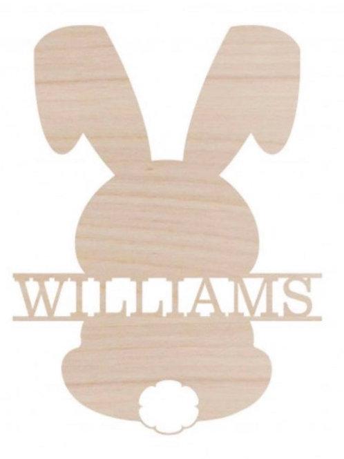 Bunny Name Design Wood Monogram