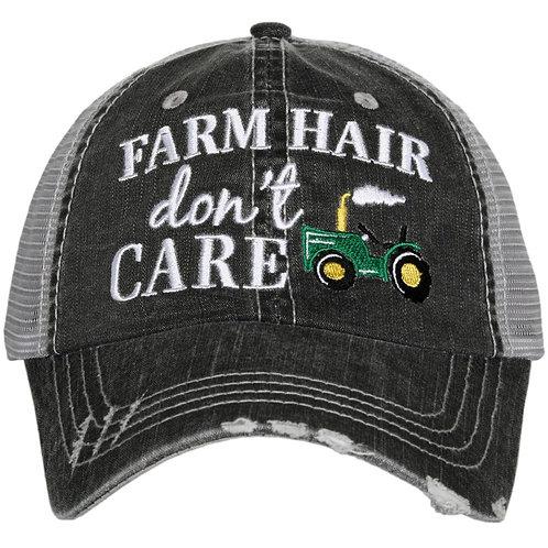 Farm Hair Don't Care Trucker Hat