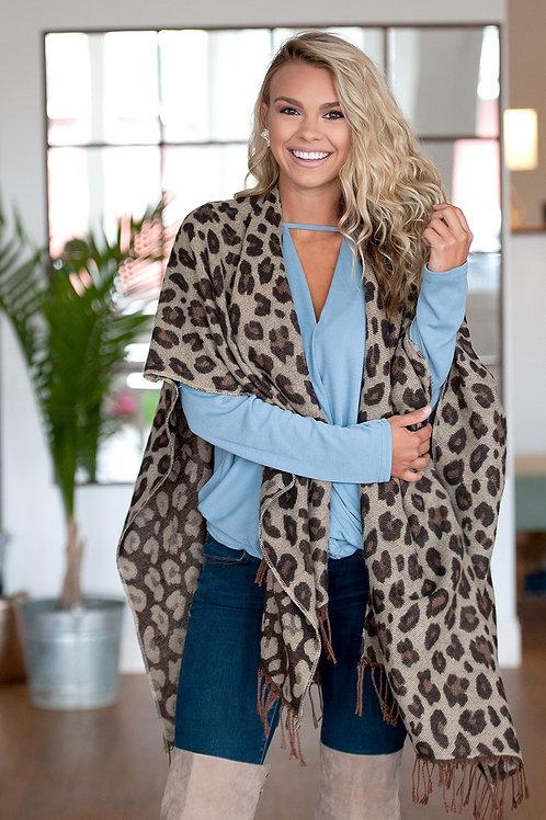 Leopard Kennedy Shawl