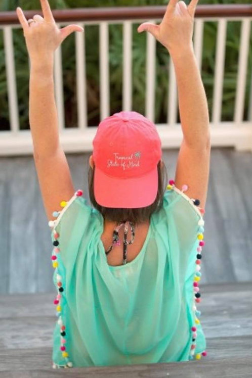 Coral Tropical State of Mind Cap