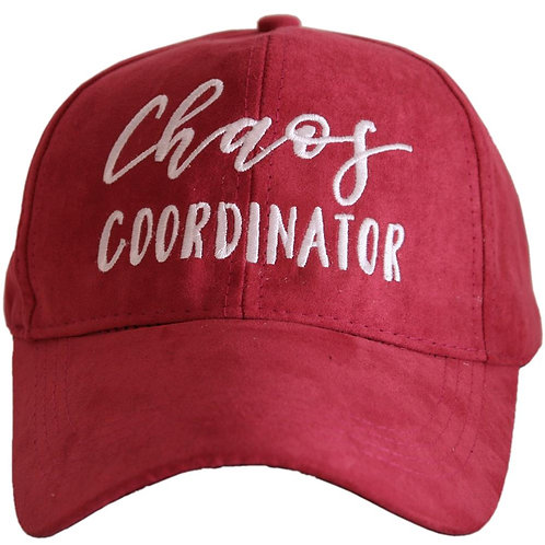 Chaos Coordinator Ultra Suede Baseball Hat