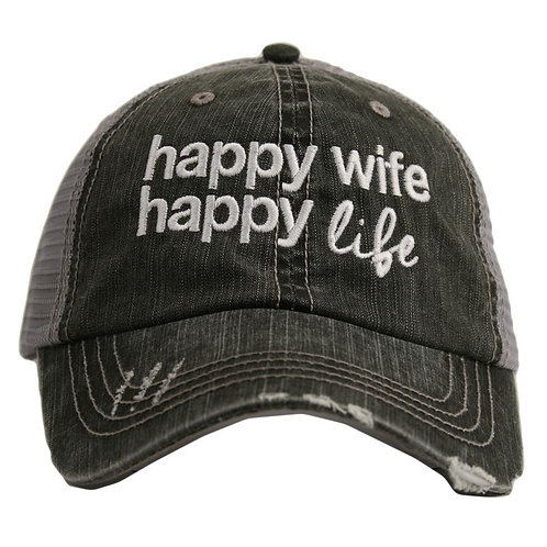 Happy Wife Happy Life Trucker Hat